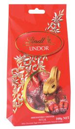 Lindt Lindor Milk Egg Bag