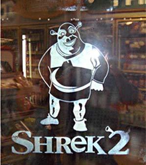 Visual Ice - freezer door promotion - Shrek 2
