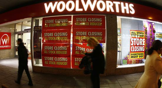 Woolworths UK Closes
