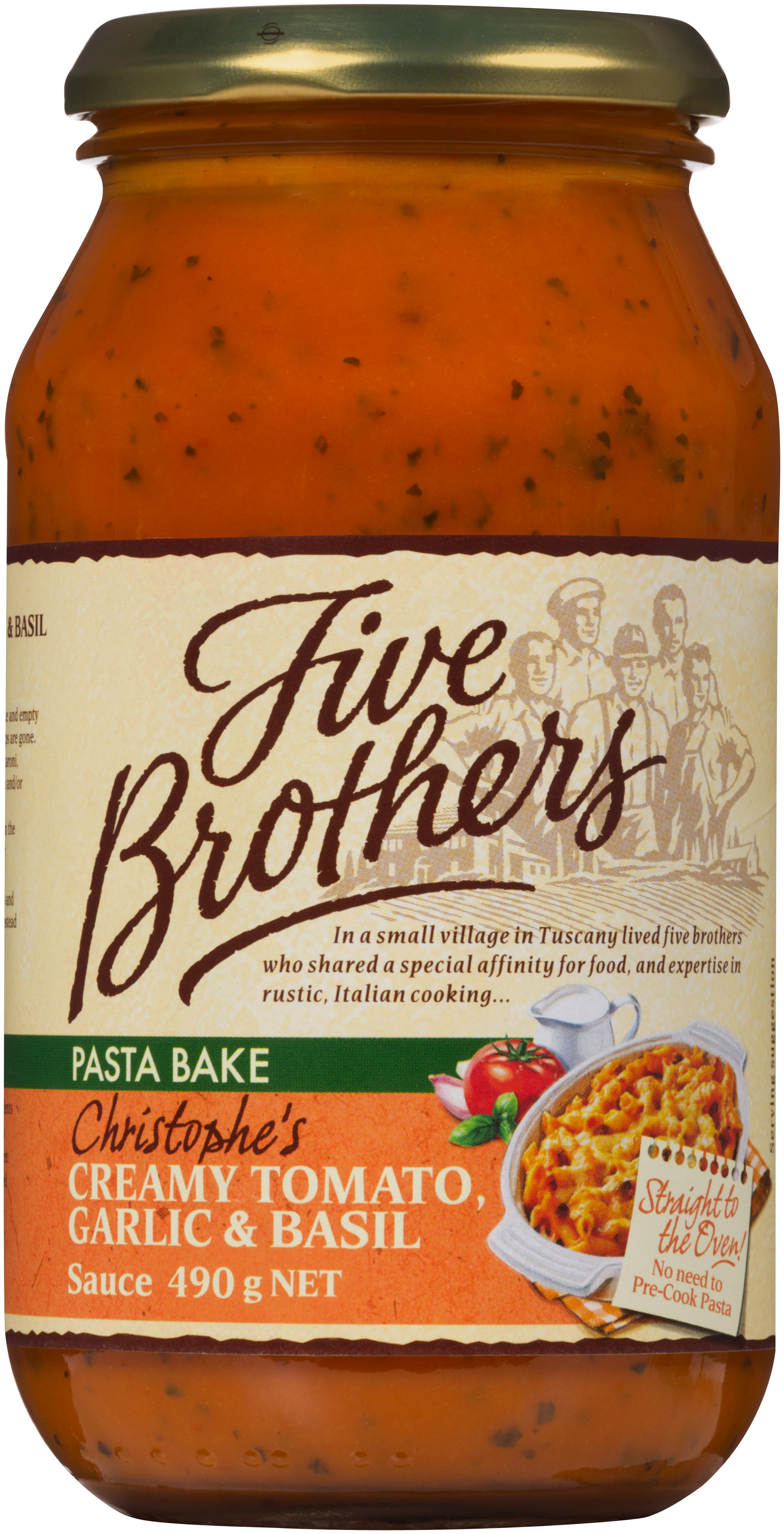 Five Brothers now has a pasta bake range