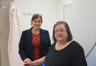 Professor Jenny Gunton and her patient, Penelope Jackson