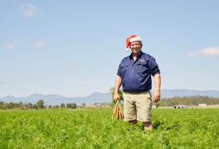 Steven Moffatt is one of Woolworths' Reindeer Carrot farmers