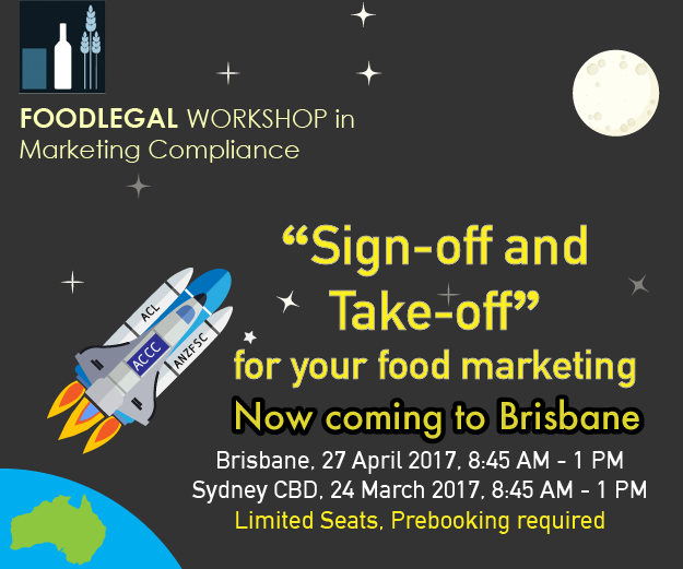 Foodlegal Sign off and Take off Event