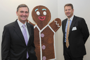 Premier John Brumby, Michael Quinn and friend