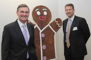 Premier John Brumby, Michael Quinn and friend