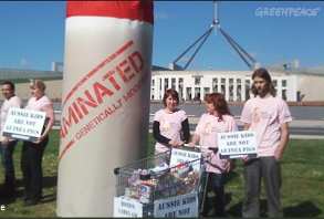 Greenpeace babyfood protest