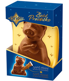 Nestle chocolate pig