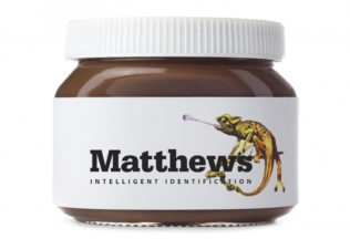 Unbranded Hazelnut Spread isolated on a white background with a blank label. Ideal for imposing your own artwork onto.