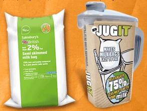 JUGIT and Sainsbury Milk Bag