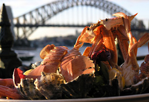 Seafood over Sydney Harbour